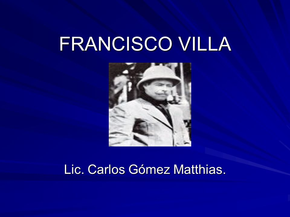 Lic. Carlos Gómez Matthias.