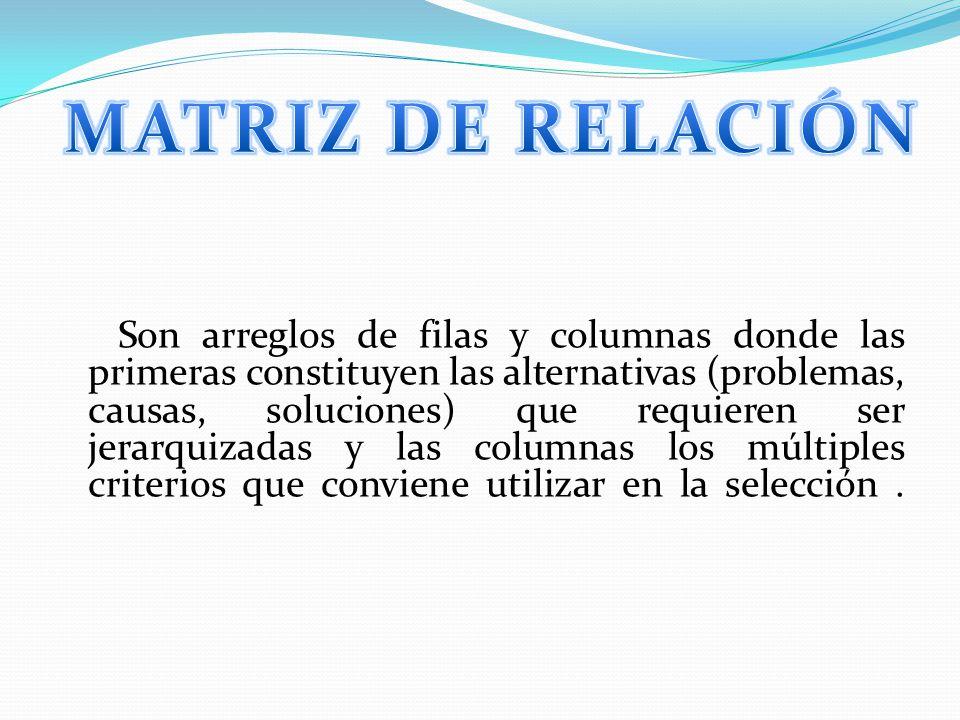 MATRIZ DE RELACIÓN