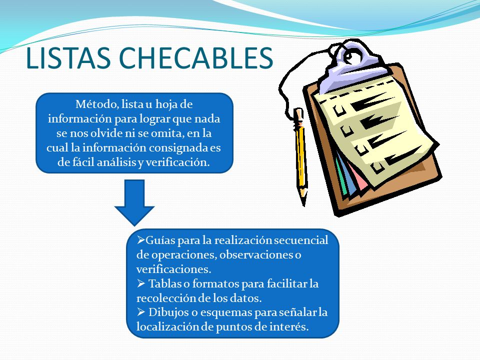 LISTAS CHECABLES