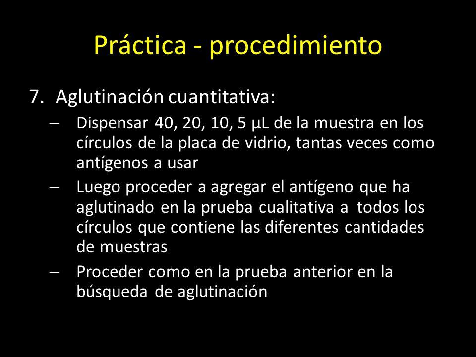 Práctica - procedimiento