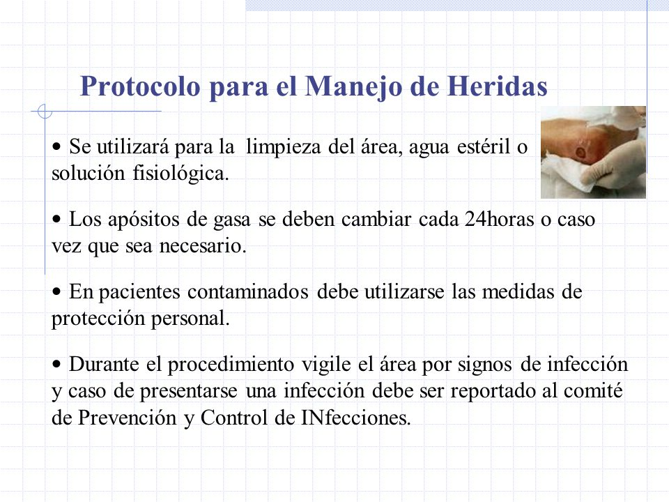 Protocolo para el Manejo de Heridas