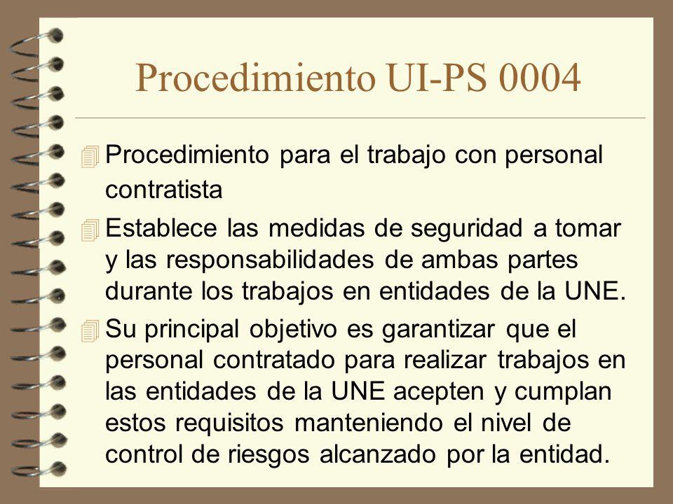 Procedimiento UI-PS 0004 Procedimiento para el trabajo con personal contratista.