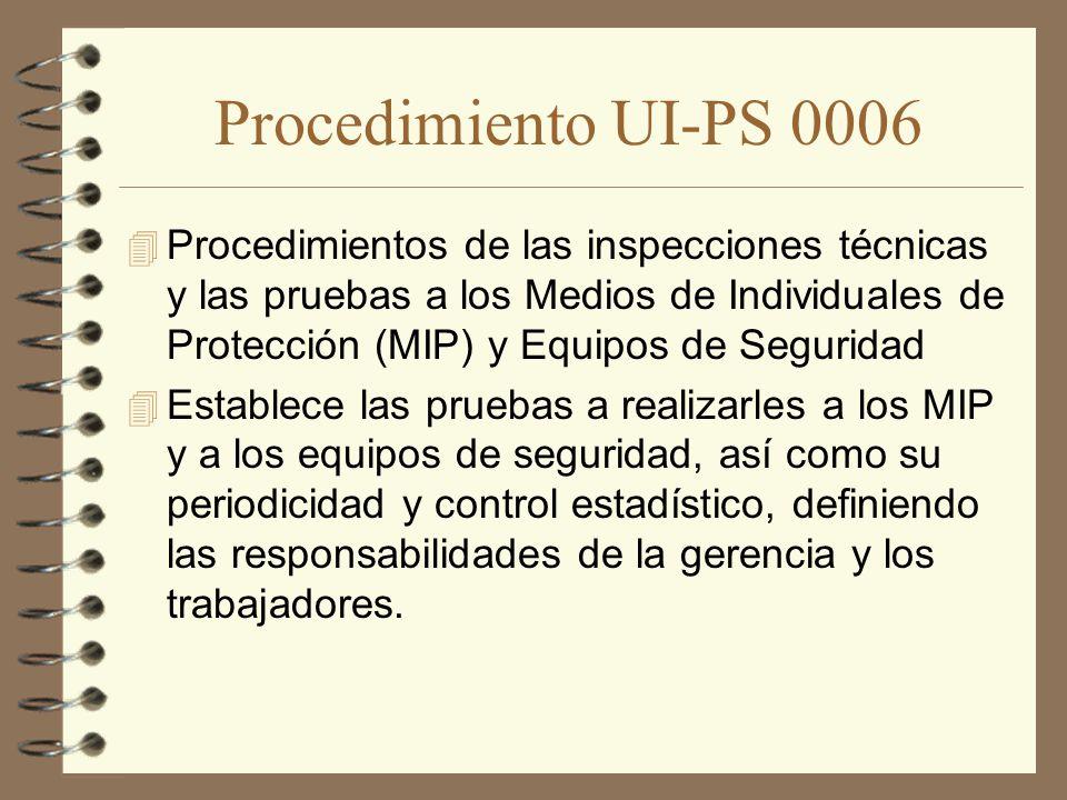 Procedimiento UI-PS 0006