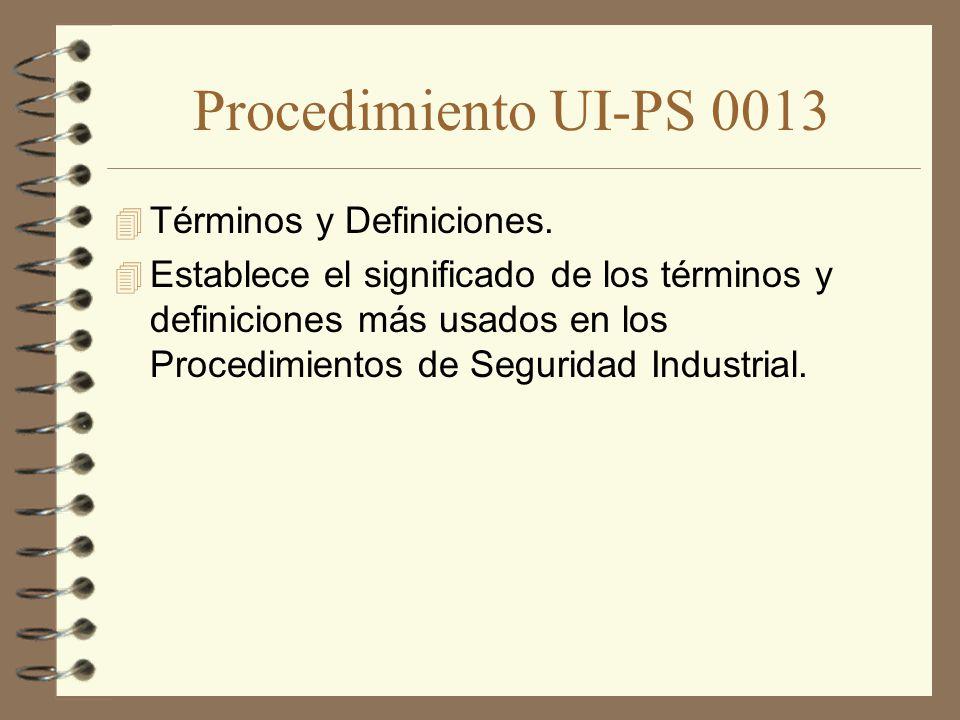 Procedimiento UI-PS 0013 Términos y Definiciones.