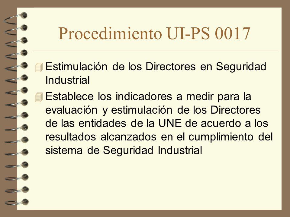 Procedimiento UI-PS 0017 Estimulación de los Directores en Seguridad Industrial.