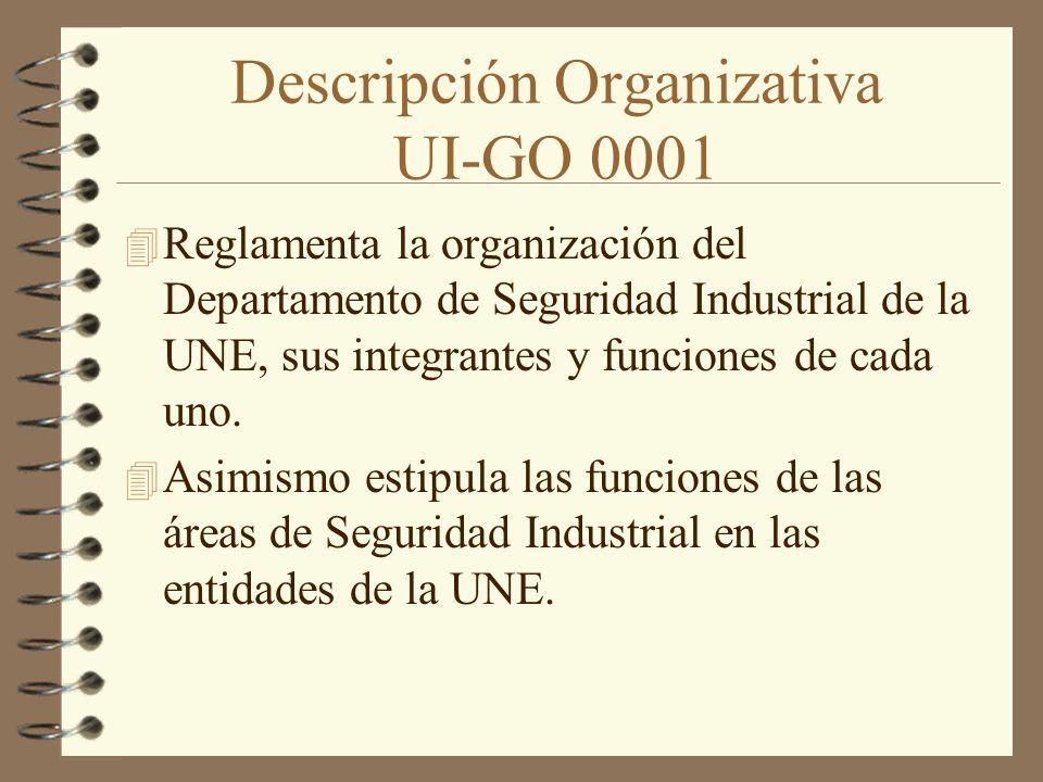 Descripción Organizativa UI-GO 0001