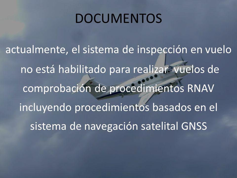 DOCUMENTOS actualmente, el sistema de inspección en vuelo