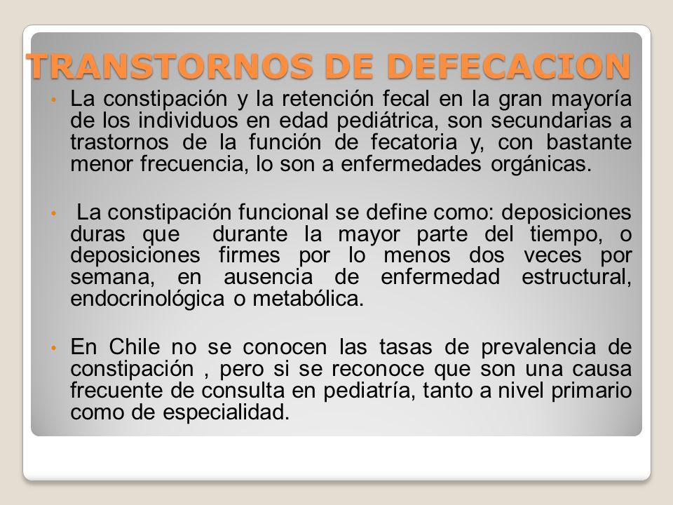 TRANSTORNOS DE DEFECACION