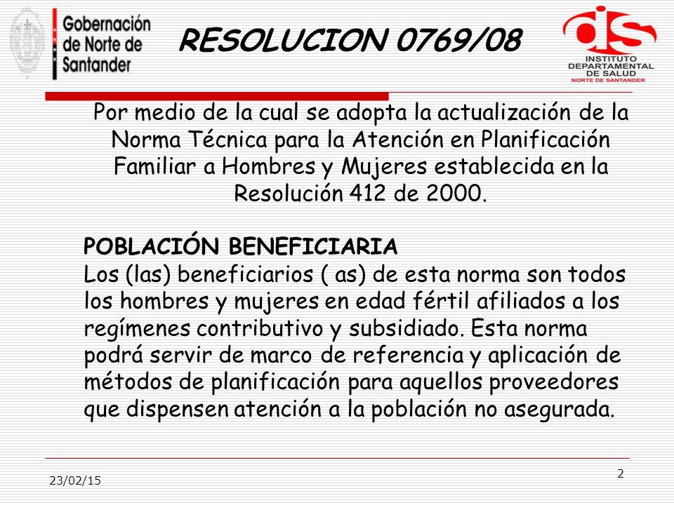 RESOLUCION 0769/08