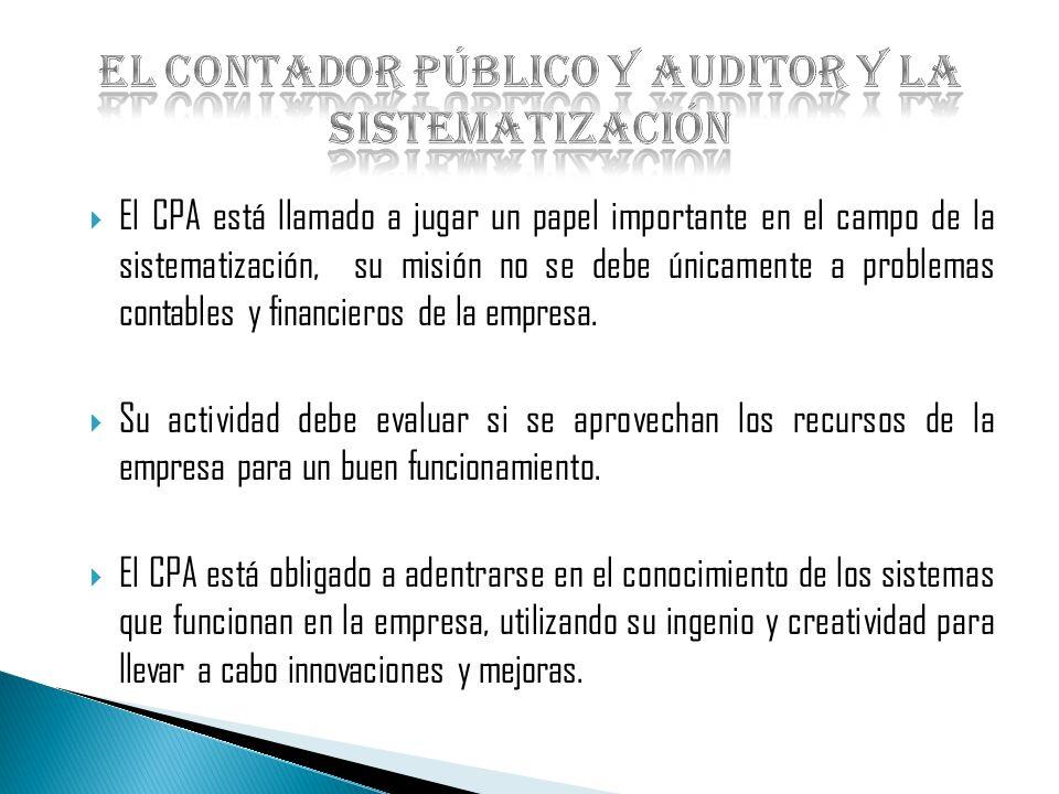 El Contador Público y Auditor y la sistematización