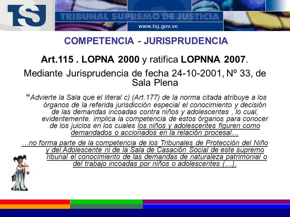 COMPETENCIA - JURISPRUDENCIA