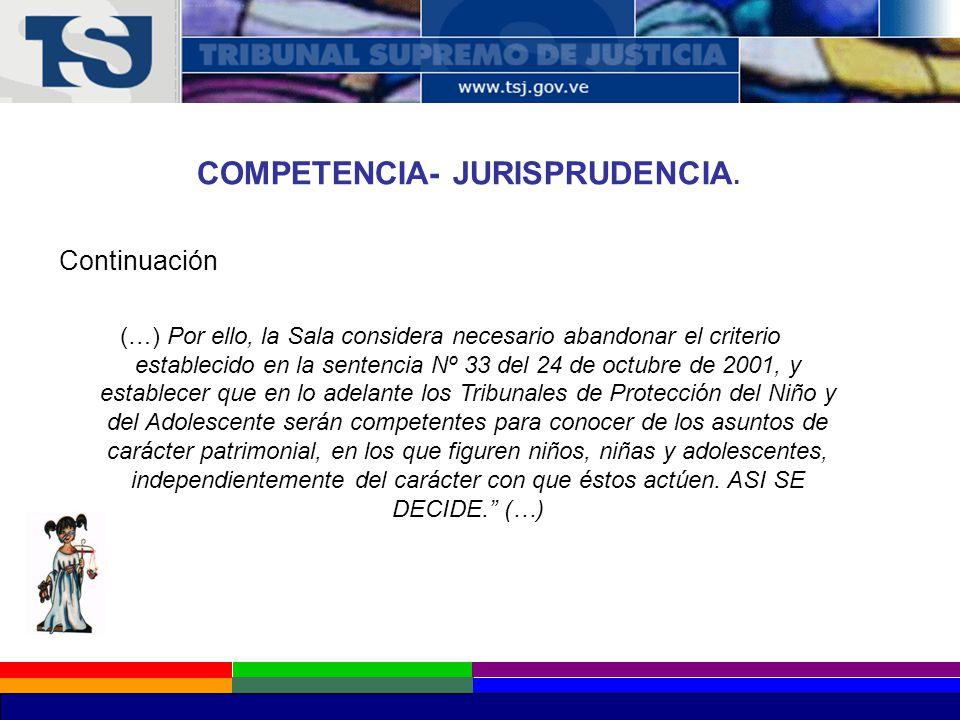COMPETENCIA- JURISPRUDENCIA.