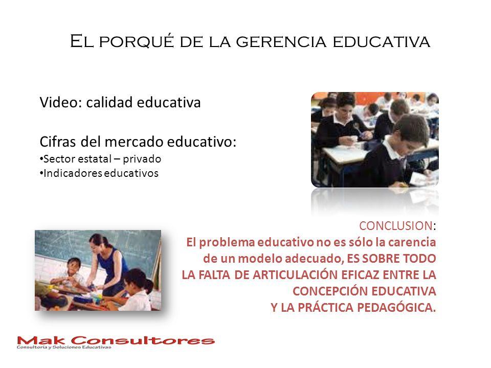 El porqué de la gerencia educativa