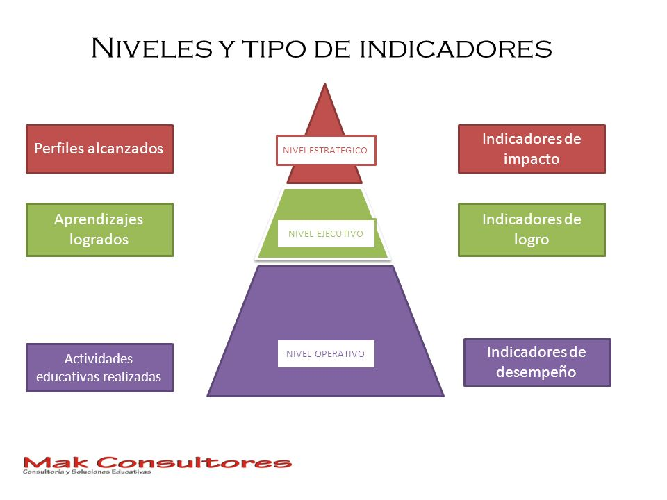 Niveles y tipo de indicadores