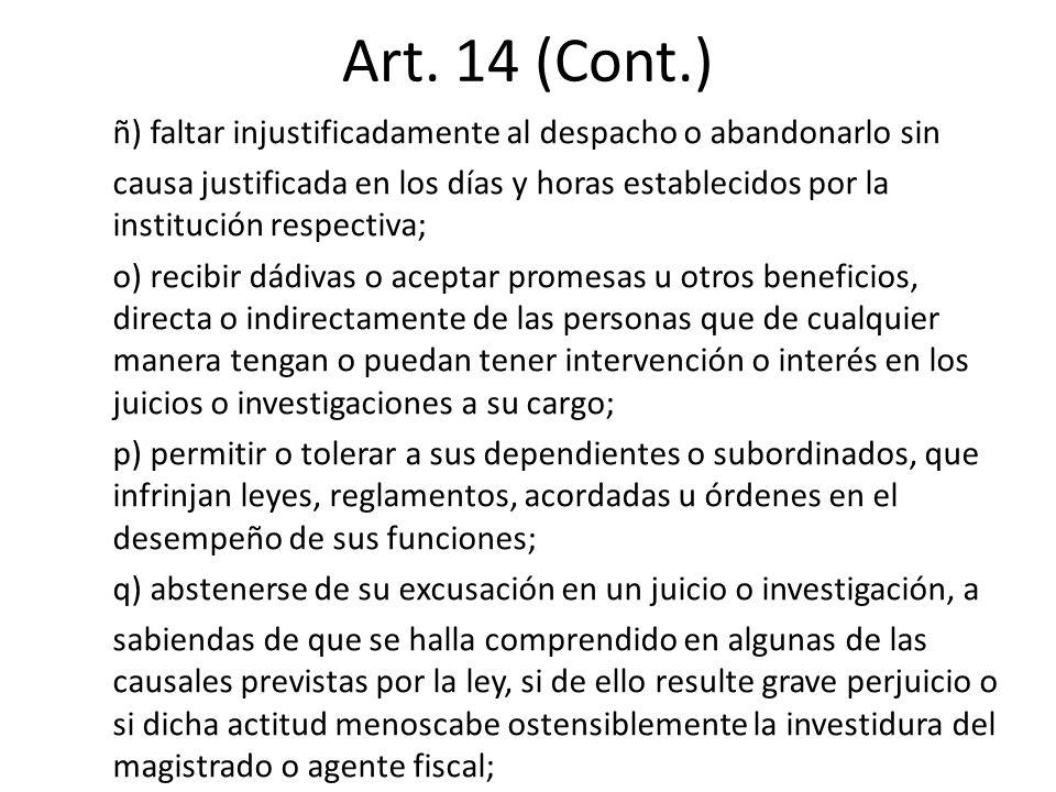 Art. 14 (Cont.)