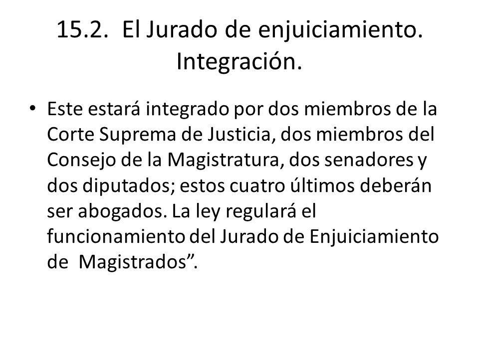 15.2. El Jurado de enjuiciamiento. Integración.