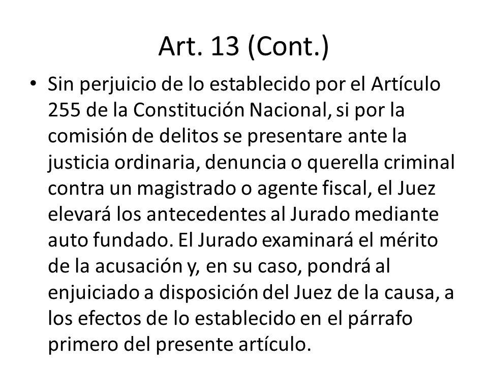 Art. 13 (Cont.)