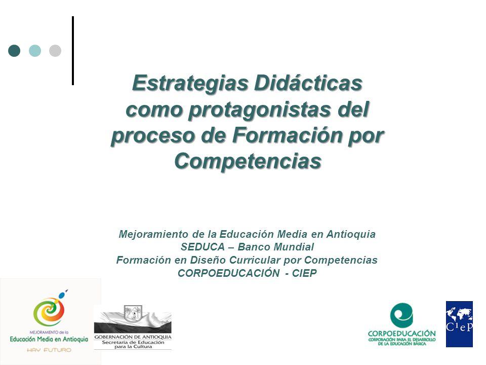 Estrategias Didácticas como protagonistas del proceso de Formación por Competencias