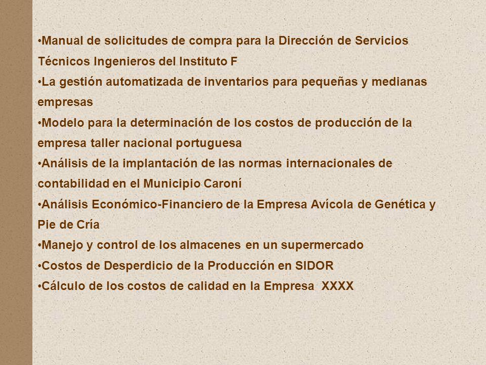 Manual de solicitudes de compra para la Dirección de Servicios Técnicos Ingenieros del Instituto F