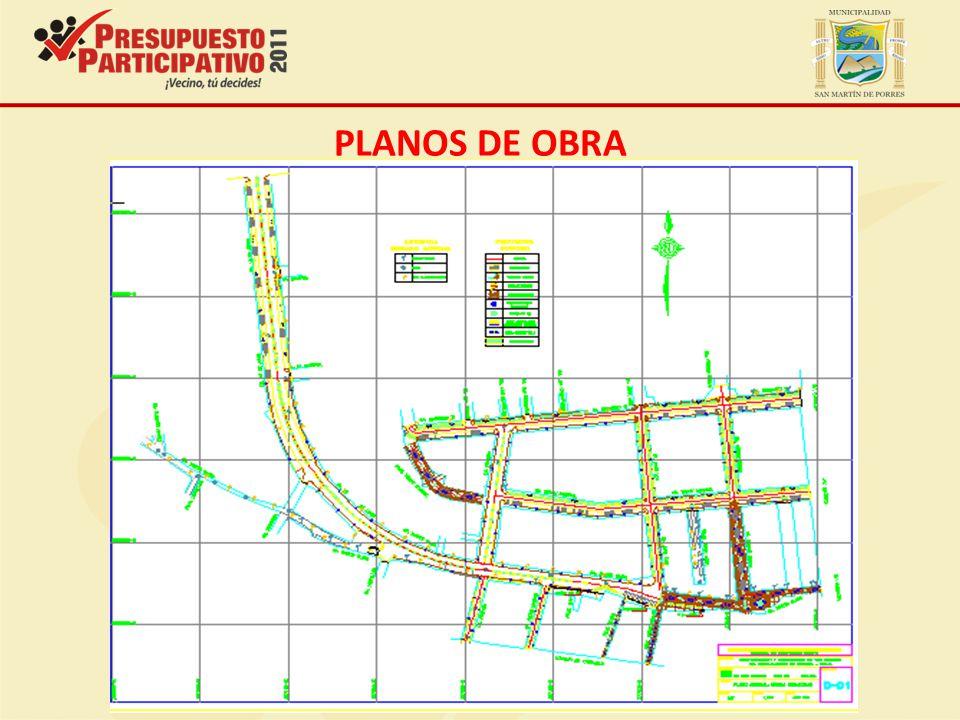 PLANOS DE OBRA