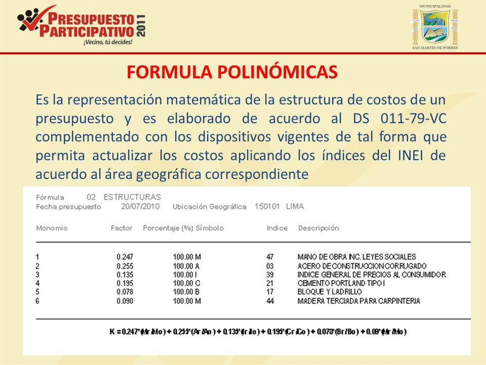 FORMULA POLINÓMICAS