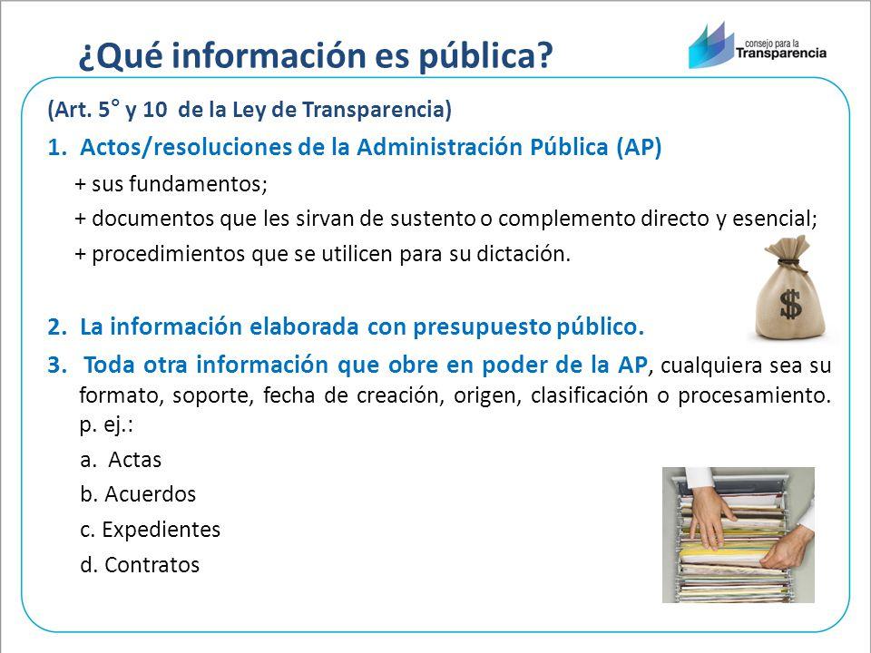¿Qué información es pública