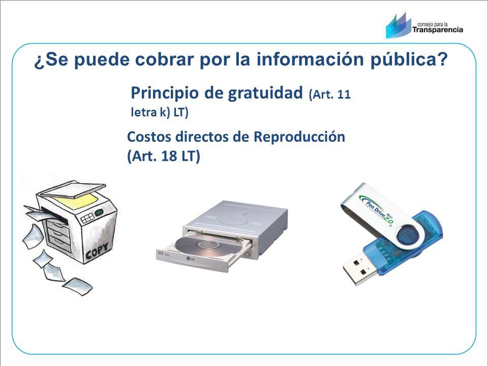 ¿Se puede cobrar por la información pública
