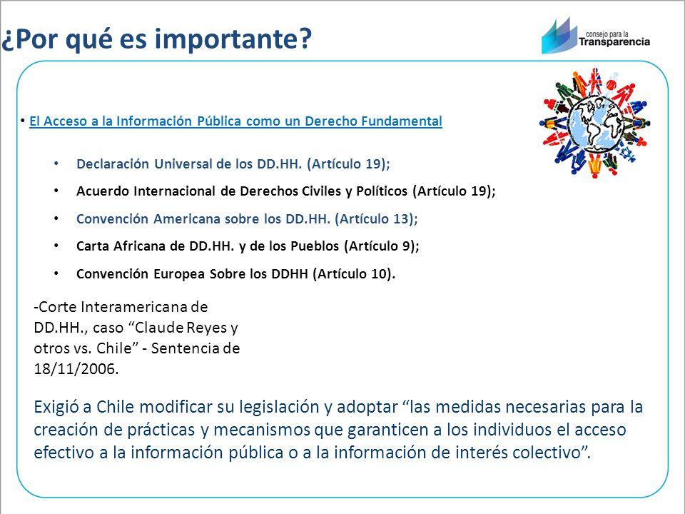 ¿Por qué es importante El Acceso a la Información Pública como un Derecho Fundamental. Declaración Universal de los DD.HH. (Artículo 19);