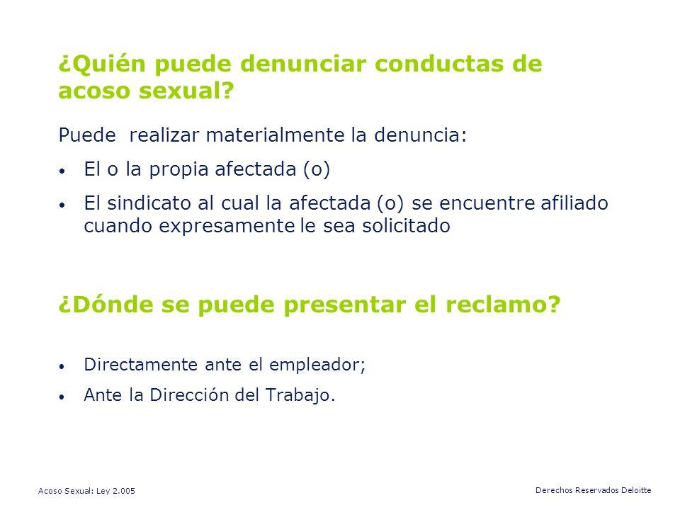 ¿Quién puede denunciar conductas de acoso sexual