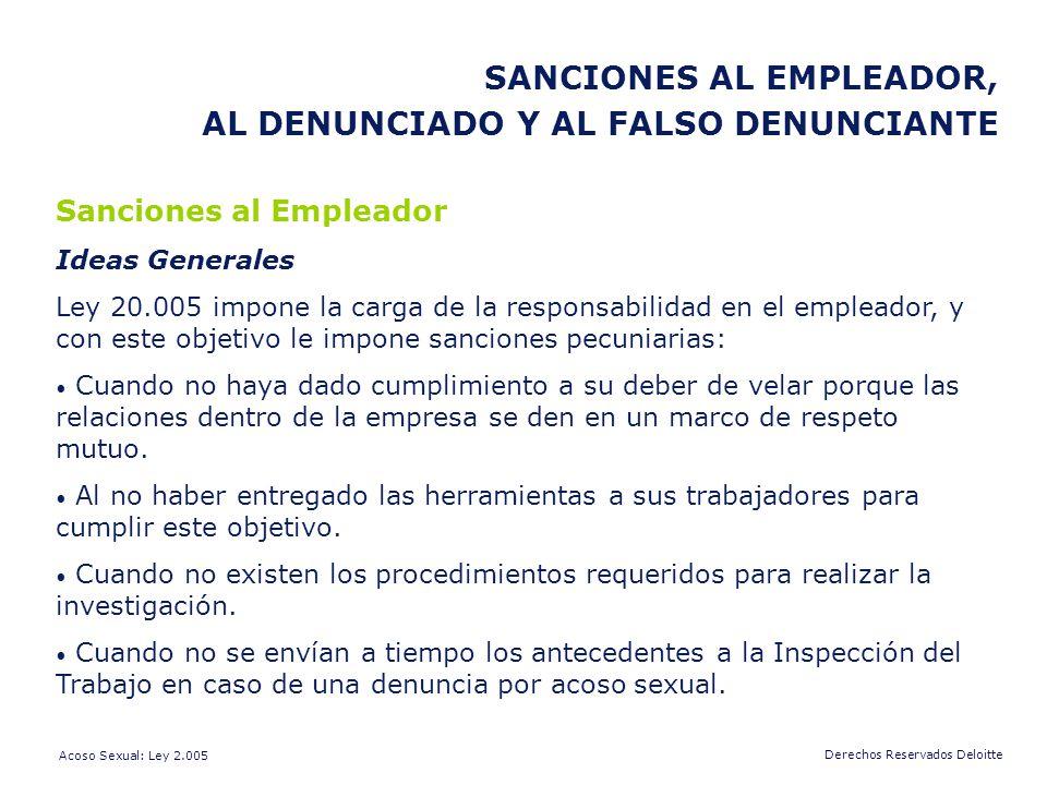SANCIONES AL EMPLEADOR, AL DENUNCIADO Y AL FALSO DENUNCIANTE