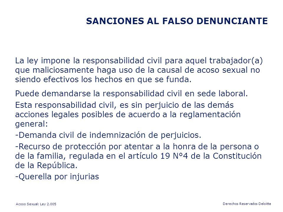 SANCIONES AL FALSO DENUNCIANTE