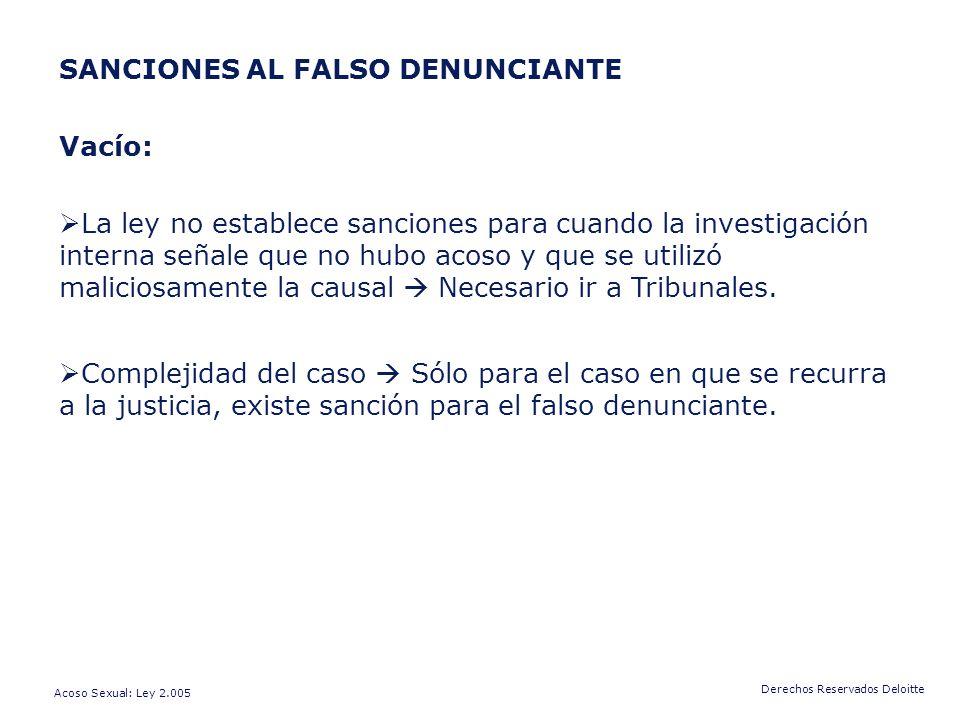 SANCIONES AL FALSO DENUNCIANTE Vacío: