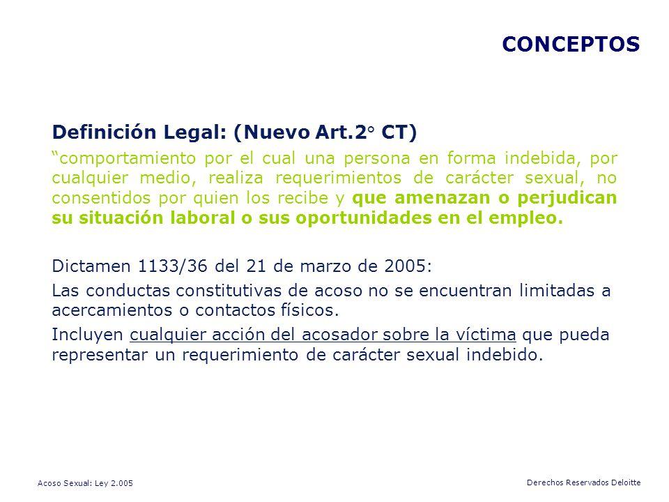 CONCEPTOS Definición Legal: (Nuevo Art.2° CT)