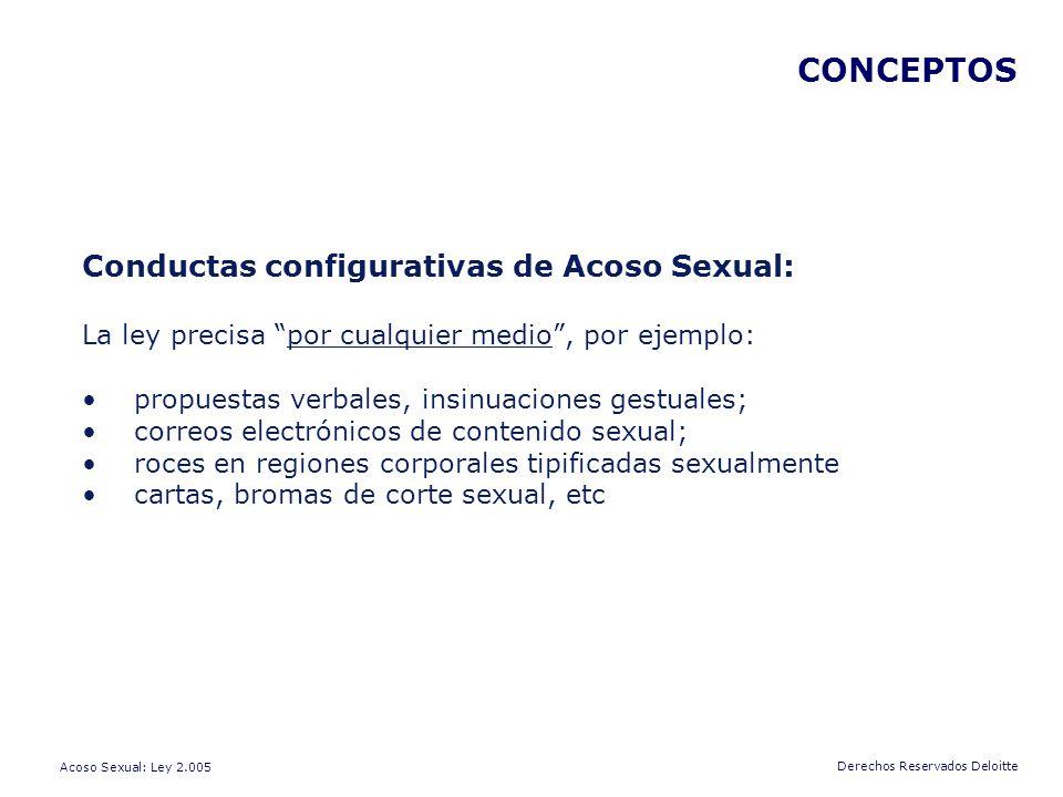 CONCEPTOS Conductas configurativas de Acoso Sexual: