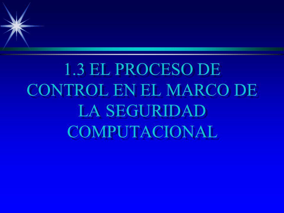 1.3 EL PROCESO DE CONTROL EN EL MARCO DE LA SEGURIDAD COMPUTACIONAL