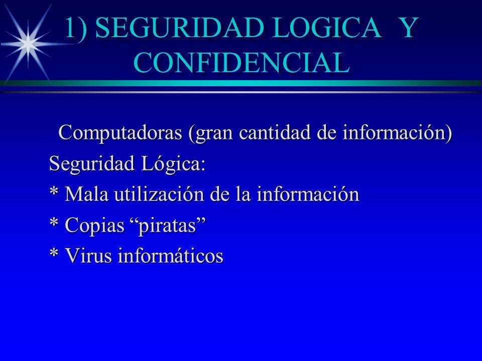 1) SEGURIDAD LOGICA Y CONFIDENCIAL