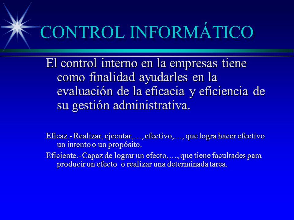 CONTROL INFORMÁTICO