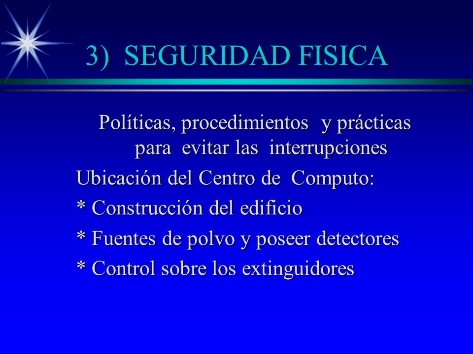 Políticas, procedimientos y prácticas para evitar las interrupciones