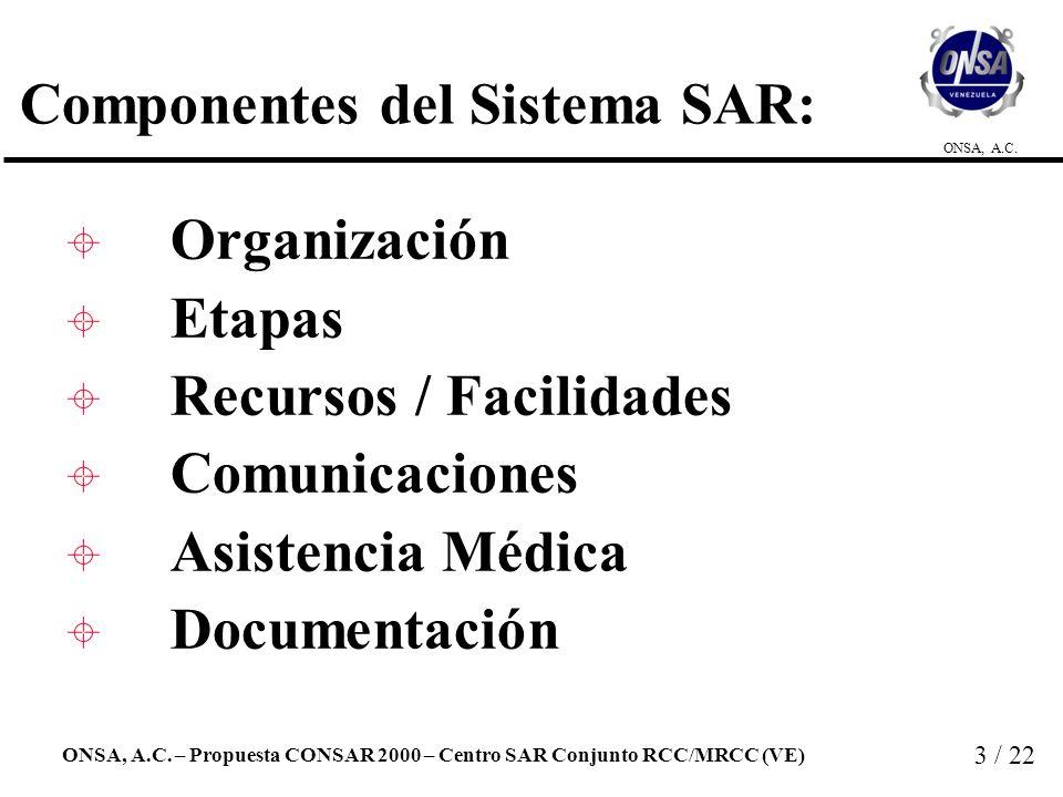 Componentes del Sistema SAR: