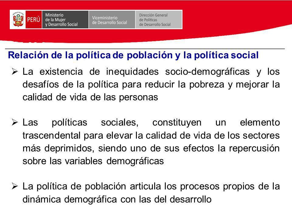 Relación de la política de población y la política social