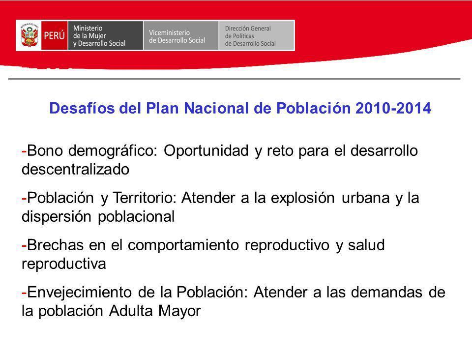 Desafíos del Plan Nacional de Población 2010-2014
