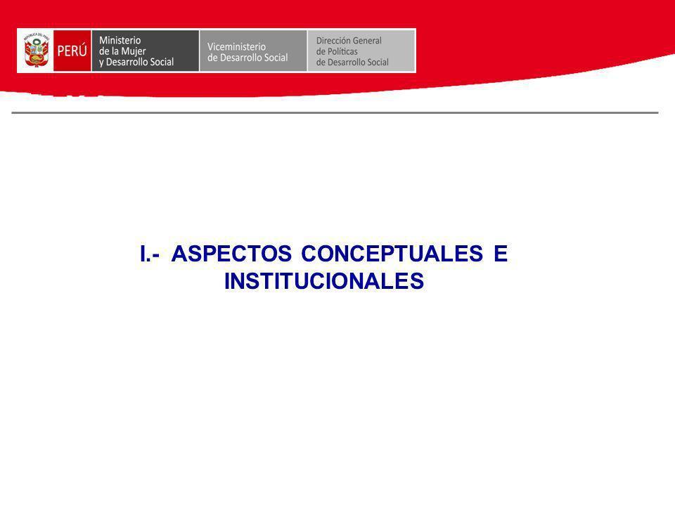I.- ASPECTOS CONCEPTUALES E INSTITUCIONALES