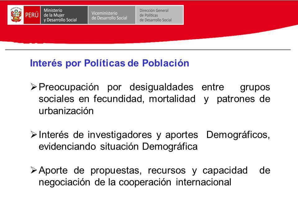 Interés por Políticas de Población