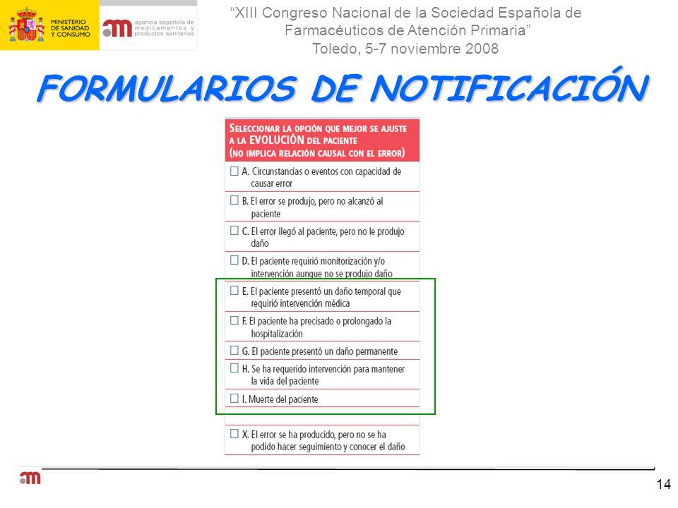 FORMULARIOS DE NOTIFICACIÓN