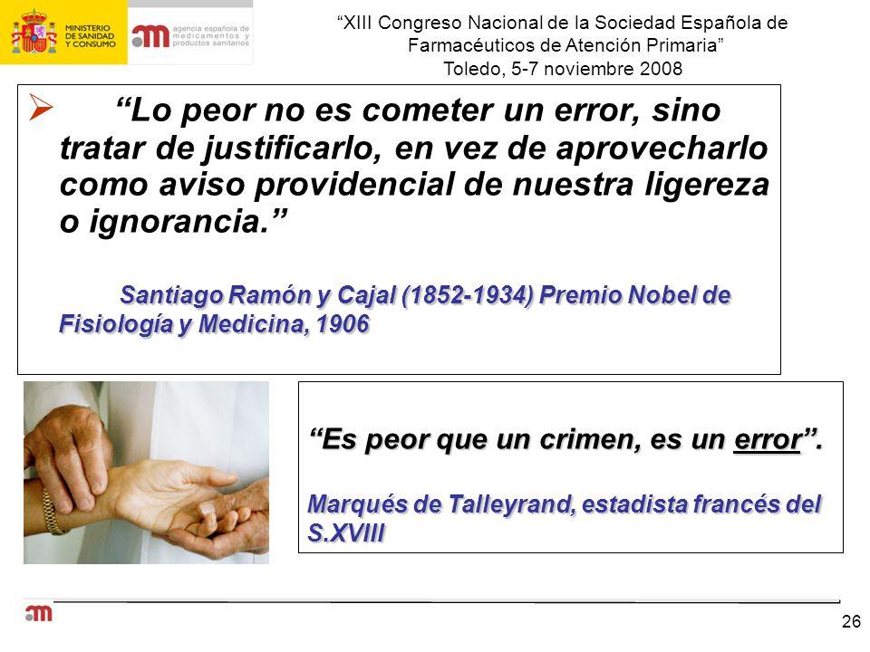 XIII Congreso Nacional de la Sociedad Española de Farmacéuticos de Atención Primaria Toledo, 5-7 noviembre 2008