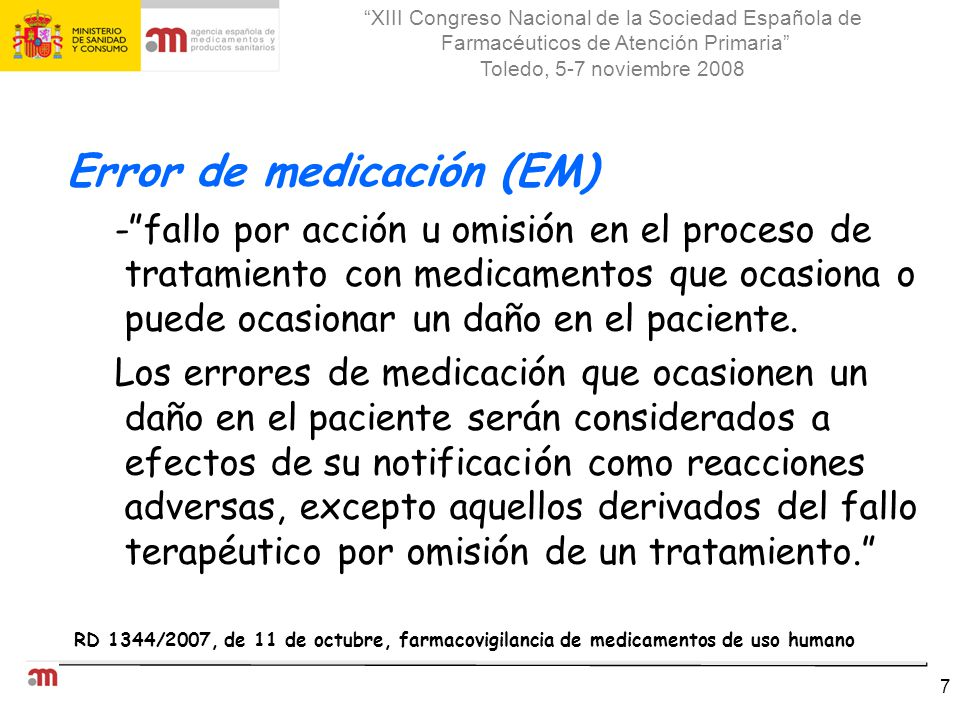 Error de medicación (EM)