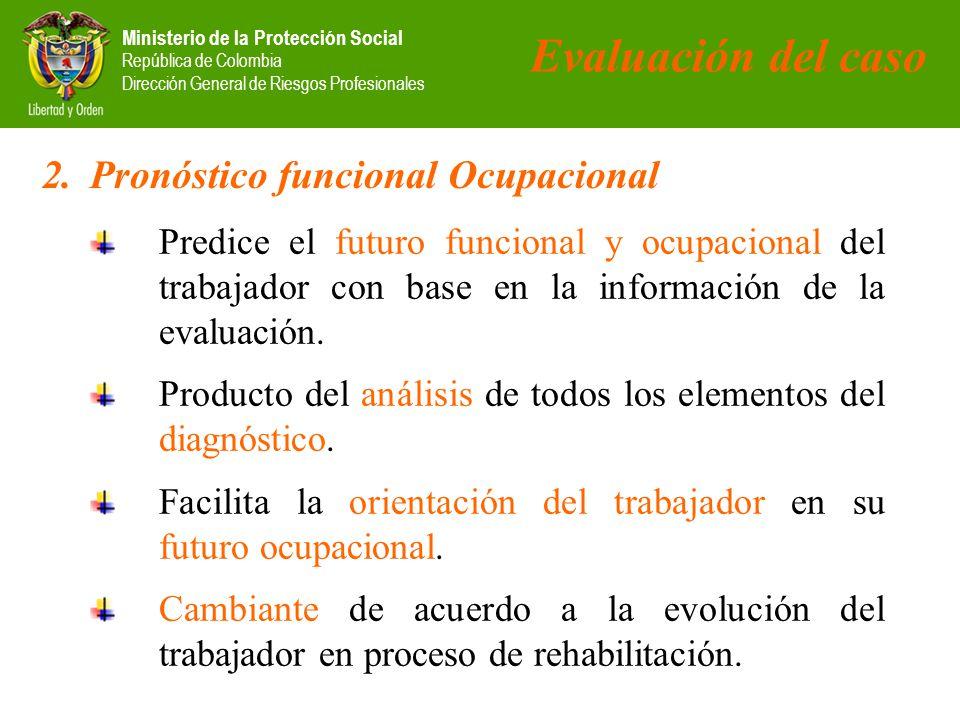 Evaluación del caso Pronóstico funcional Ocupacional