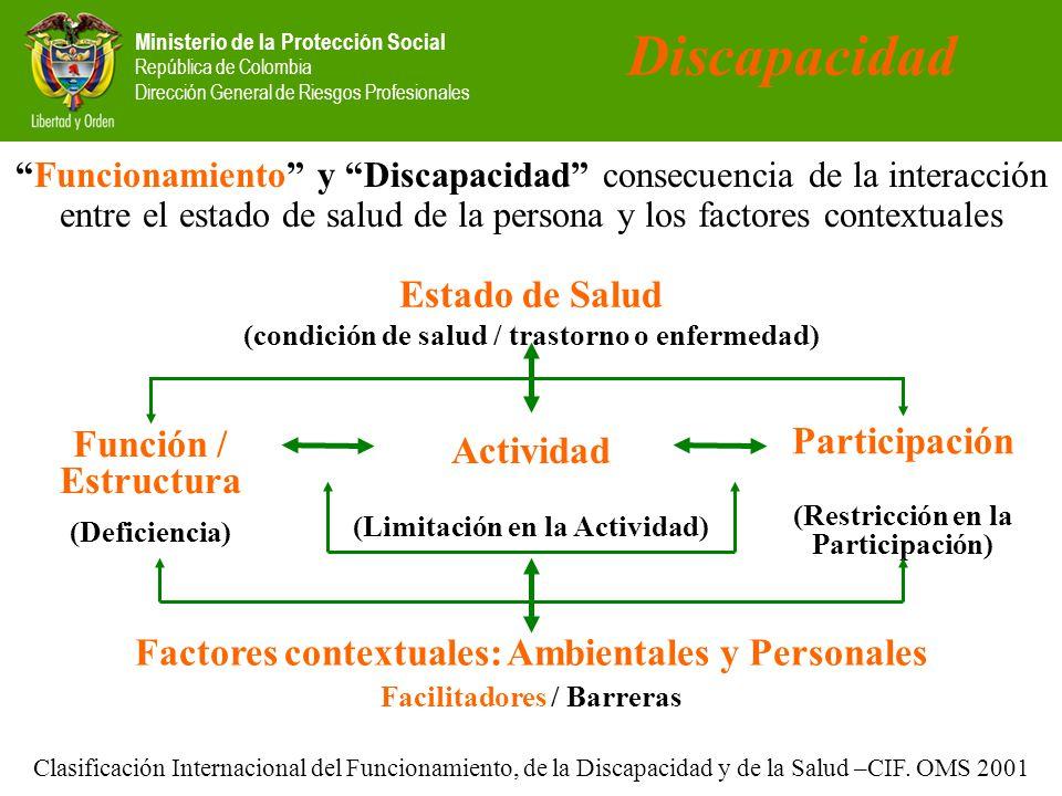 Discapacidad Estado de Salud Participación Función / Estructura