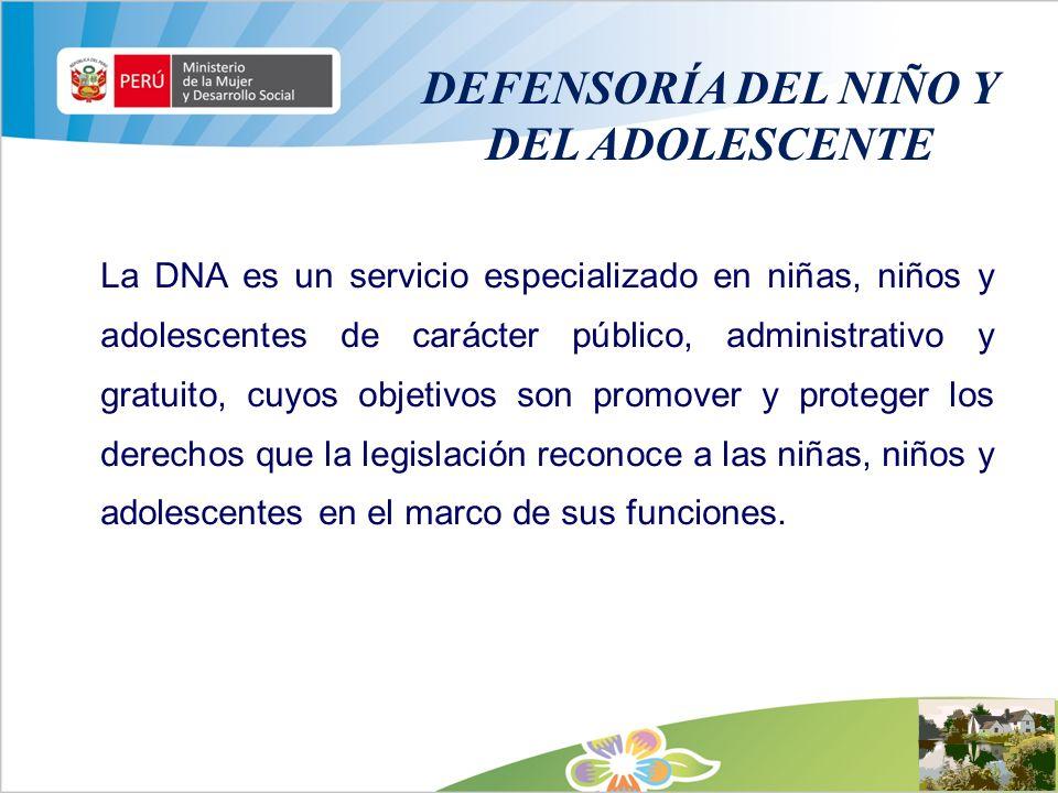 DEFENSORÍA DEL NIÑO Y DEL ADOLESCENTE