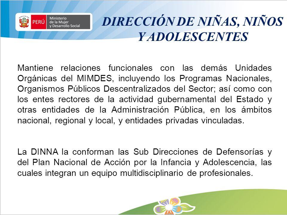 DIRECCIÓN DE NIÑAS, NIÑOS Y ADOLESCENTES